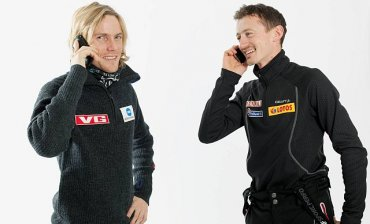 Bjoern-Einar Romoeren i Adam Małysz