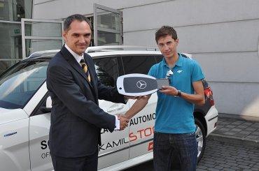Kamil Stoch odbiera kluczyki